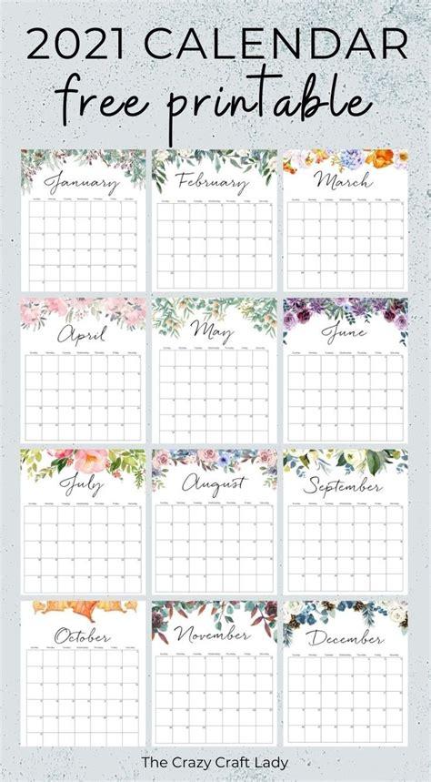 printable floral wall calendar   monthly calendar printable calendar