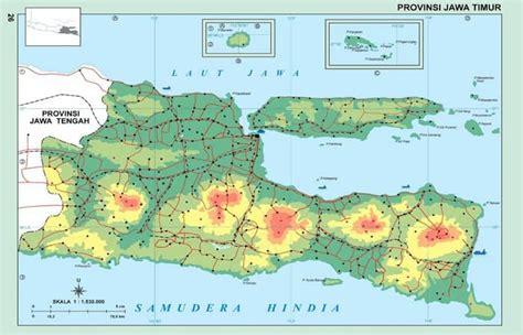 peta jawa timur sejarah komponen kota terkenal