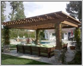 Cedar Lamp by Attached Pergola Plans Home Design Ideas