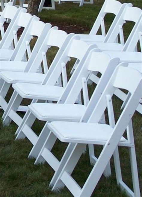 wedding items resin white wedding folding chair