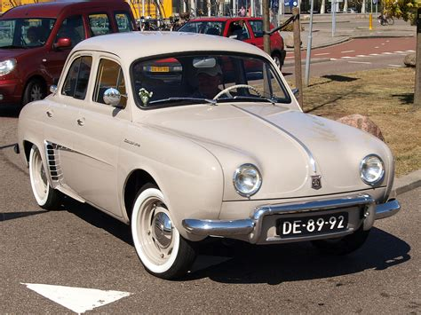 renault dauphine renault dauphine black and white old but bright