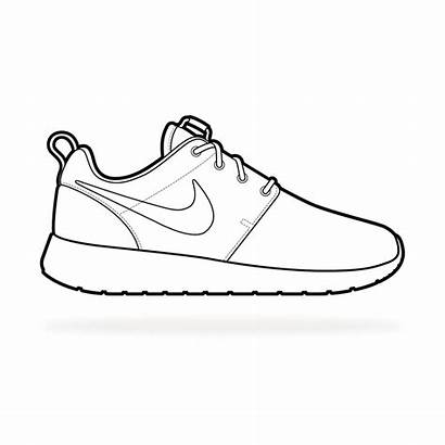 Nike Roshe Sketch Sketches Shoes Template Pages