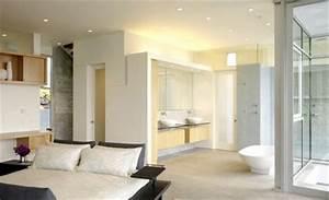 Petite Salle De Bain Ouverte Sur Chambre : d co salle de bain ouverte sur chambre exemples d 39 am nagements ~ Melissatoandfro.com Idées de Décoration