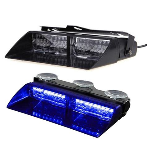 Blue Emergency Lights by Car 16 Led Blue Strobe Flash Light Dash Emergency