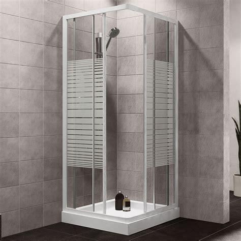 plumbsure square shower enclosure  white frame