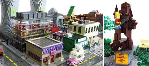 lego recrea la ciudad de springfield los simpson en