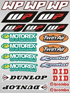 22x ktm wp motorex sponsor stickers decals graphics vinyl sticker sheet ebay