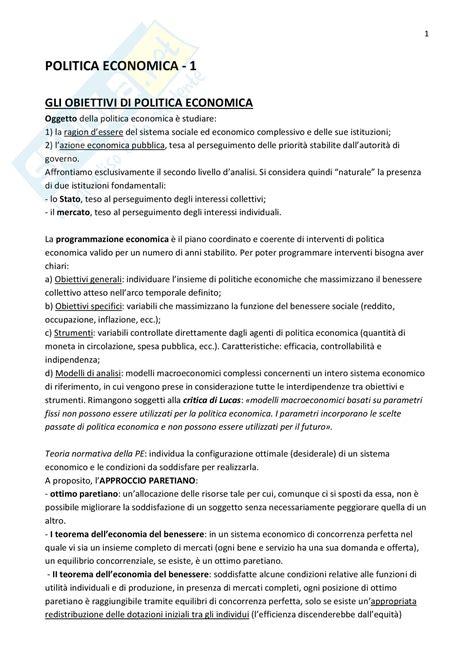 Dispense Di Macroeconomia by Riassunto Esame Politica Economica Prof Montalbano