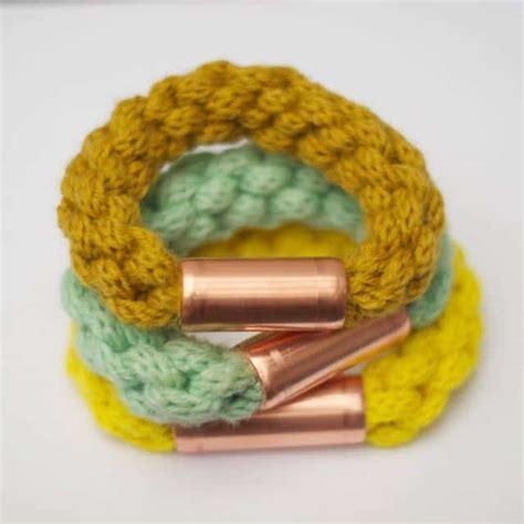 strickliesel armband mit kupfer handmade kultur