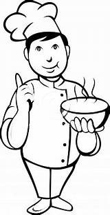 Coloring Pages Chef Chefs sketch template