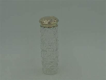 Jar Glass Antique 1903 Vanity Edwardian Lid