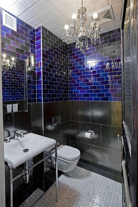 black and blue bathroom ideas 25 sparkling approaches of adding a chandelier to your