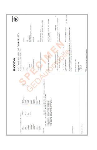 certificat de conformite skoda