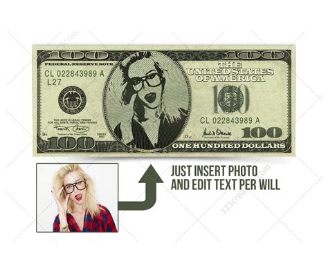 dollar template dollar bill mockup template psd with editable photo and text high resolution dollar bill