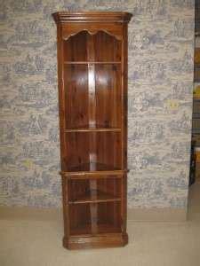 ethan allen chateau normandy pine corner curio cabinet