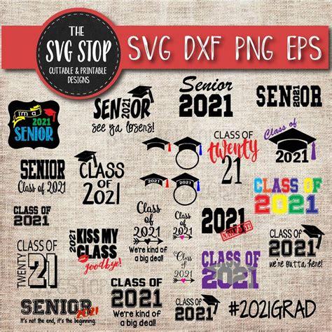 senior graduation bundle svg cut file clipart