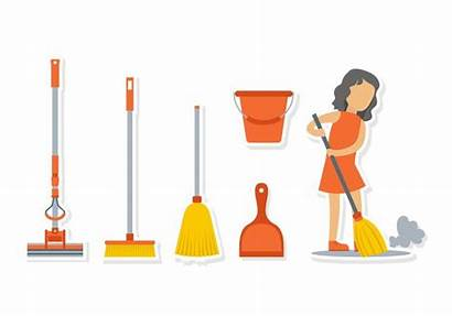 Broom Vassoura Clipart Brooms Menina Caring Vecteezy