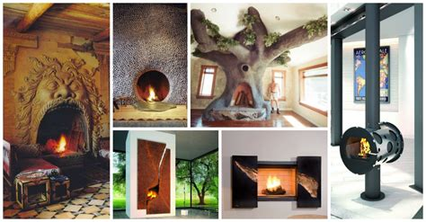 unusual indoor fireplaces   catch  eye