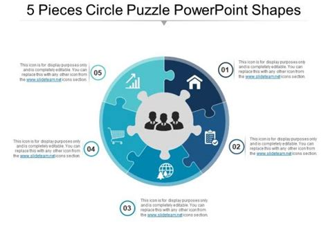 style puzzles circular  piece powerpoint  diagram infographic