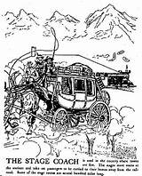 Stagecoach Stage Coach Coloring Pages Gutenberg Template Sketch Child sketch template