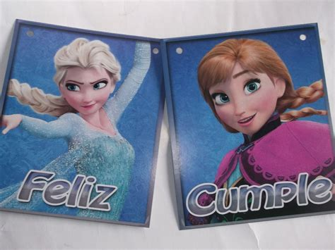 Cartel Feliz Cumple Frozen peppa $ 75 $ 75 00 en Mercado