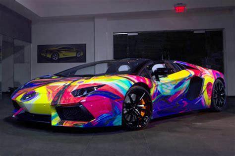 Lamborghini Aventador Art Car Features Every Colour Of The