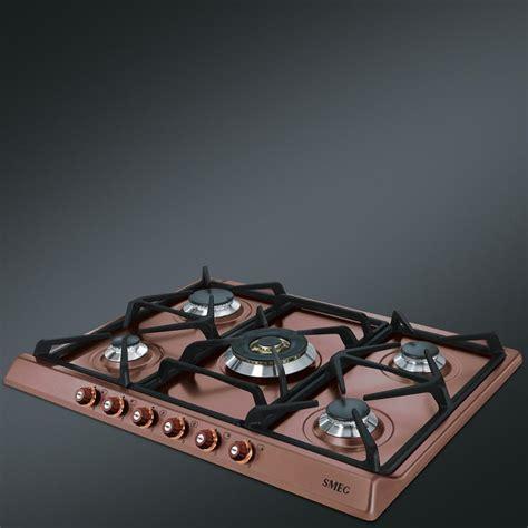 piani cottura colorati smeg gas hob sr775ra copper cortina line 70 cm fab appliances