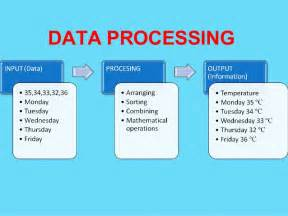 Data of Computer Processing Cycle