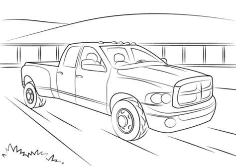 dodge ram  coloring page  printable coloring pages