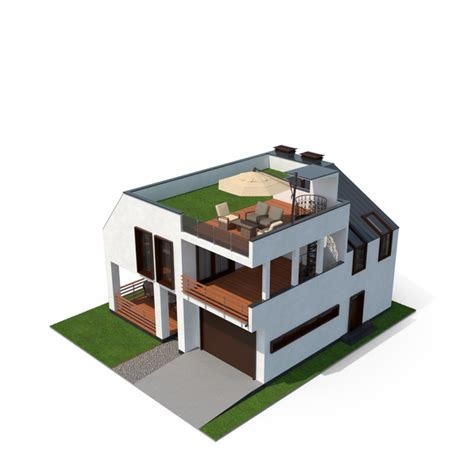 modern house  grass roof png images psds