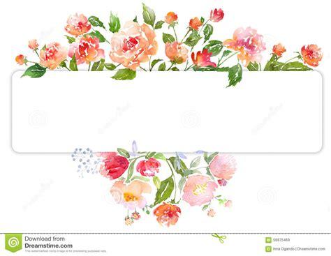 ensemble de composition florale daquarelle illustration