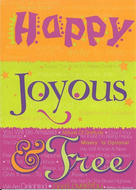 happy joyous   greeting card