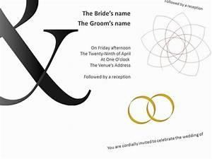 bold wedding invitations With wedding invitation sample ppt