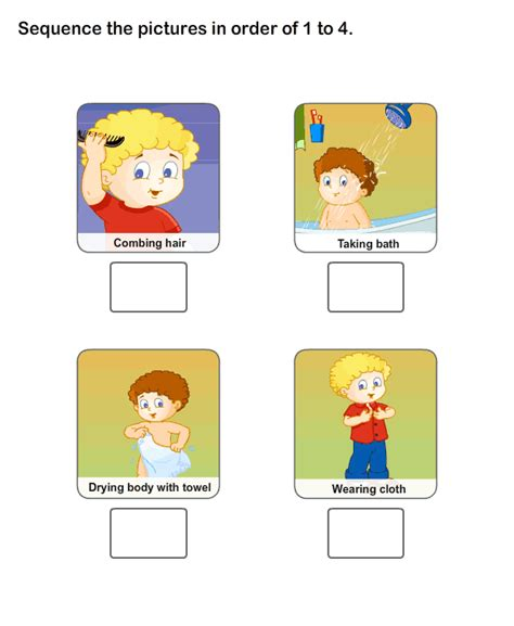 practice  personal hygiene worksheets printable