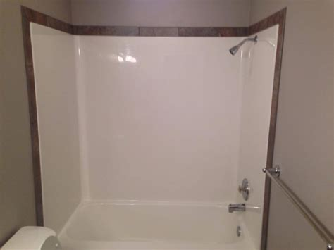 tile border around tub surround neat way to customize your fiberglass shower outline it with a nice tile border installed by