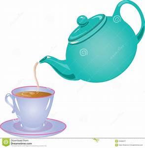 Tea pot pouring tea stock vector. Illustration of brew ...
