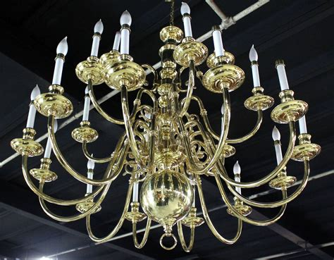 Large Brass Chandelier by Large Vintage Brass Candelabra Chandelier For Sale At 1stdibs
