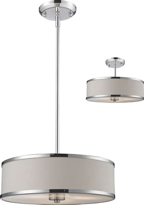 z lite 164 16 cameo chrome 15 63 quot wide drum hanging light
