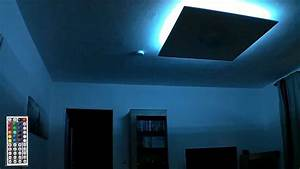 Indirekte Beleuchtung Leisten : rgb led deckenlampe indirekte beleuchtung youtube ~ Watch28wear.com Haus und Dekorationen