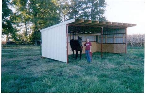 portable barn open shelter frame 22 pole barn kit run in
