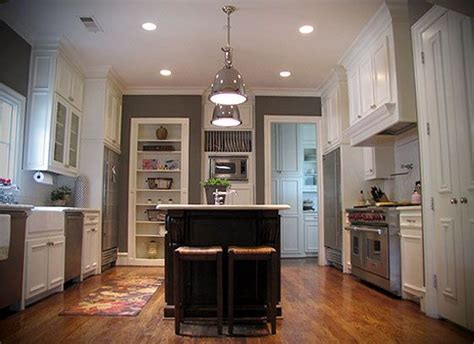 light gray kitchen walls gray kitchen walls white cabinets light fixtures above 6987