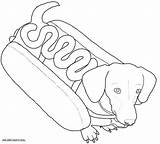 Sausage Dog Colouring Pages Coloring Again Bar Looking Case Don sketch template