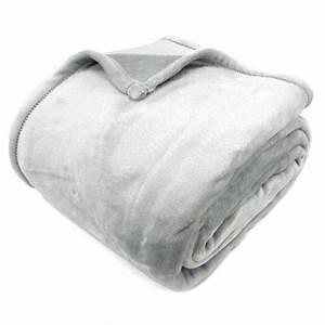 Couverture Polaire Très Chaude : couverture polaire 240x260 cm microfibre 100 polyester 320 g m2 velvet gris perle achat ~ Nature-et-papiers.com Idées de Décoration