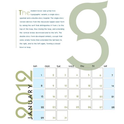 typography calendar design january hinchcliff digital design pinterest typography