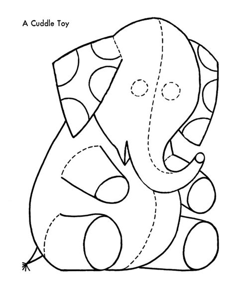 Coloring Toys by Elephant Cuddle Toys Coloring Page