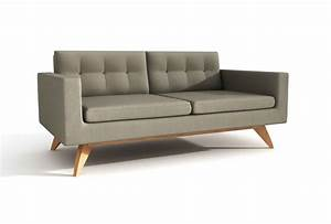 luna 70quot loveseat sofa viesso With difference between settee sofa and couch
