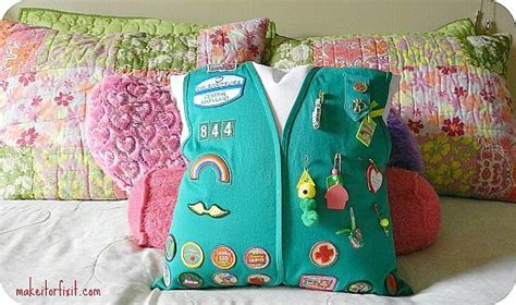 Girl Scout Vest into Pillow