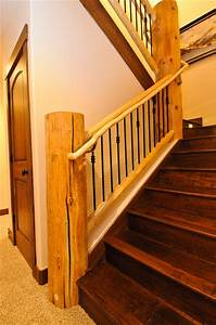 Rustic Log Cabin - Rustic - Staircase - denver - by