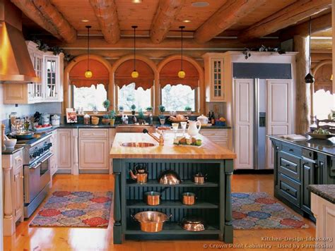 Log Home Kitchens  Pictures & Design Ideas