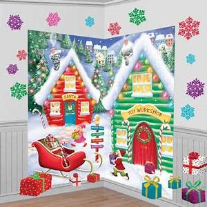 Santa s Workshop Scene Setter Kit Party City